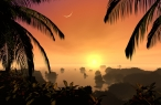 3D sunset island desktop wallpapers|free hq hd wallpapers 3D sunset island