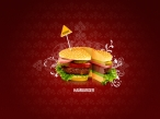 3D hamburger desktop wallpapers|free hq hd wallpapers 3D hamburger
