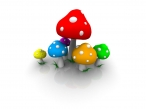 3D color mushrooms desktop wallpapers|free hq hd wallpapers 3D color mushrooms