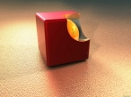 3D red cube desktop wallpapers|free hq hd wallpapers 3D red cube
