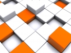 3D white orange cubes desktop wallpapers|free hq hd wallpapers 3D white orange cubes