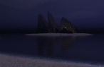 D rock and island in night desktop wallpapers|free hq hd wallpapers D rock and island in night