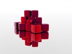 3D red cubes desktop wallpapers|free hq hd wallpapers 3D red cubes