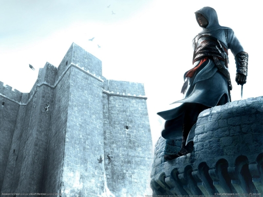 Assassin s Creed   on castle tower desktop wallpapers. Assassin s Creed   on castle tower free hq wallpapers. Assassin s Creed   on castle tower