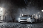 Aston Martin in old city   front side desktop wallpapers|free hq hd wallpapers Aston Martin in old city   front side