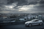 LightGray Aston Martin   on bridge desktop wallpapers|free hq hd wallpapers LightGray Aston Martin   on bridge