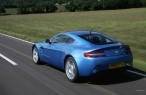 Blue Aston Martin   back view desktop wallpapers|free hq hd wallpapers Blue Aston Martin   back view