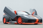 Black orange ferrari with open doors desktop wallpapers|free hq hd wallpapers Black orange ferrari with open doors
