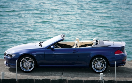 BMW B6 cabrio - side view desktop wallpapers. BMW B6 cabrio - side view free hq wallpapers. BMW B6 cabrio - side view