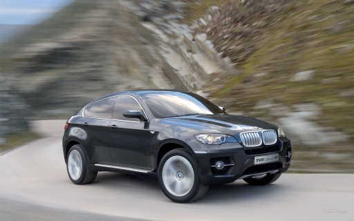 BMW X6  Concept - black desktop wallpapers. BMW X6  Concept - black free hq wallpapers. BMW X6  Concept - black