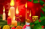Xmas candles desktop wallpapers|free hq hd wallpapers Xmas candles