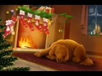 dog near the fireplace desktop wallpapers|free hq hd wallpapers dog near the fireplace