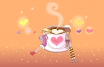 A cup of coffee with love desktop wallpapers|free hq hd wallpapers A cup of coffee with love