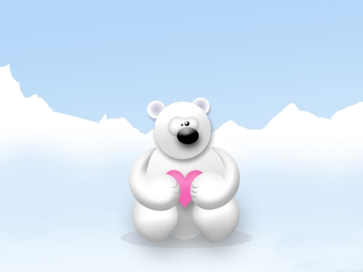 White bear desktop wallpapers. White bear free hq wallpapers. White bear