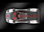 White Gray Pagani   top view desktop wallpapers|free hq hd wallpapers White Gray Pagani   top view