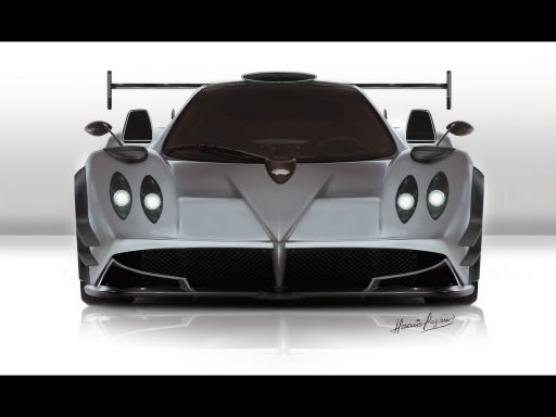 Gray Pagani   front side desktop wallpapers. Gray Pagani   front side free hq wallpapers. Gray Pagani   front side