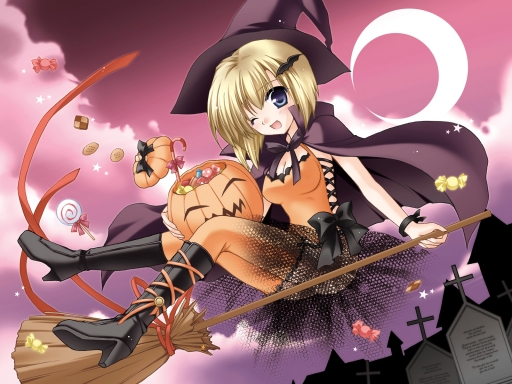 Witch on broom desktop wallpapers. Witch on broom free hq wallpapers. Witch on broom