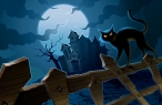 Halloween and Black cat desktop wallpapers|free hq hd wallpapers Halloween and Black cat