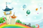 Rainbow castle desktop wallpapers|free hq hd wallpapers Rainbow castle