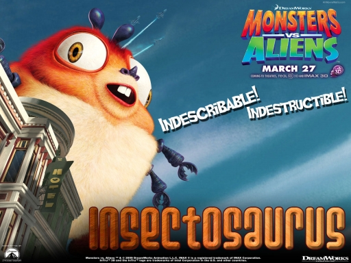 Monsters vs aliens   insectosaurus desktop wallpapers. Monsters vs aliens   insectosaurus free hq wallpapers. Monsters vs aliens   insectosaurus