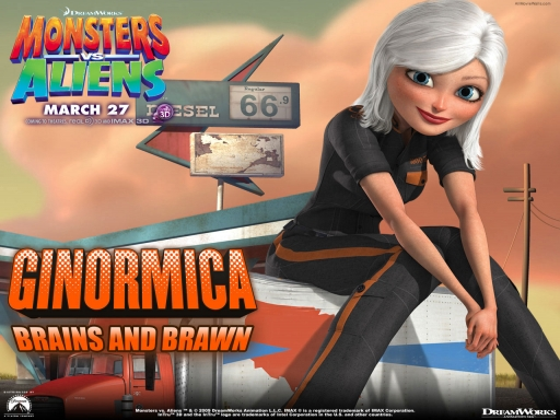 Monsters vs aliens   ginormica desktop wallpapers. Monsters vs aliens   ginormica free hq wallpapers. Monsters vs aliens   ginormica