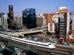 Bullet Train  Ginza District  Tokyo  Japan desktop wallpapers|free hq hd wallpapers Bullet Train  Ginza District  Tokyo  Japan