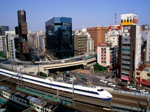 Bullet Train  Ginza District  Tokyo  Japan desktop wallpapers. Bullet Train  Ginza District  Tokyo  Japan free hq wallpapers. Bullet Train  Ginza District  Tokyo  Japan