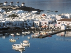 Mykonos Harbor  Cyclades  Greece desktop wallpapers|free hq hd wallpapers Mykonos Harbor  Cyclades  Greece