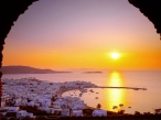 The Cyclades Islands at Sundown  Greece desktop wallpapers|free hq hd wallpapers The Cyclades Islands at Sundown  Greece