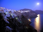 Moonrise Over Santorini  Greece desktop wallpapers|free hq hd wallpapers Moonrise Over Santorini  Greece