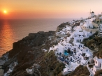 Sunset on the Island of Santorini  Greece desktop wallpapers|free hq hd wallpapers Sunset on the Island of Santorini  Greece