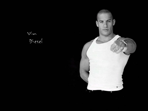 wallpaper black white. Black white vin diesel