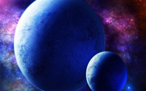 Two blue planets desktop wallpapers. Two blue planets free hq wallpapers. Two blue planets