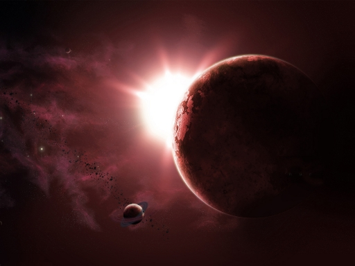 Red space and planet desktop wallpapers. Red space and planet free hq wallpapers. Red space and planet