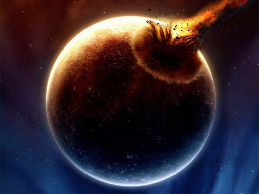 Meteor into planet desktop wallpapers. Meteor into planet free hq wallpapers. Meteor into planet