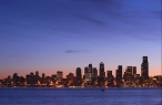 Seattle at dawn desktop wallpapers|free hq hd wallpapers Seattle at dawn