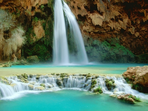 waterfall desktop wallpaper. Waterfall havasu desktop