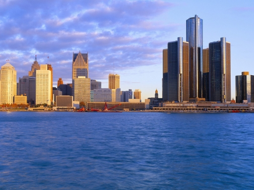 Detroit at Sunrise desktop wallpapers. Detroit at Sunrise free hq wallpapers. Detroit at Sunrise