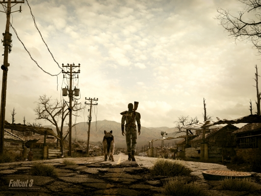 Fallout 3  the road desktop wallpapers. Fallout 3  the road free hq wallpapers. Fallout 3  the road