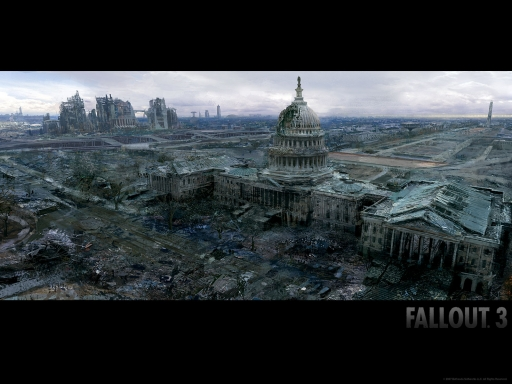 Fallout  3 destroyed city desktop wallpapers. Fallout  3 destroyed city free hq wallpapers. Fallout  3 destroyed city